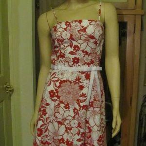 I.N. San Francisco Dresses - I.N. San Francisco Red & White Floral Dress 5